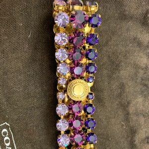 Coach Swarovski crystal latch bracelet